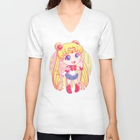 sailor moon V-neck T-shirts featuring Sailor Moon by strawberryquiche