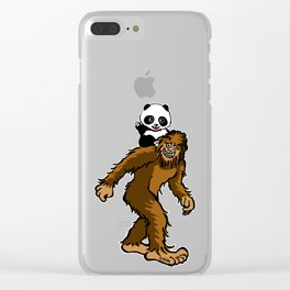 Gone Squatchin with Panda Clear iPhone Case