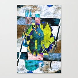 wine bottles abstract Canvas Print