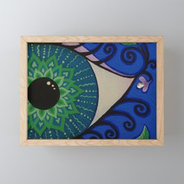 Eye of the Mandala Framed Mini Art Print