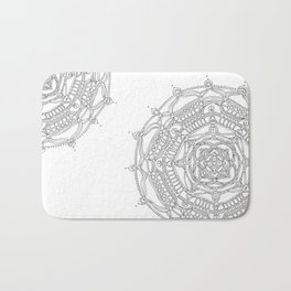 Well Being on White Background Bath Mat