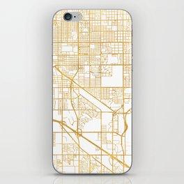 TUCSON ARIZONA CITY STREET MAP ART iPhone Skin