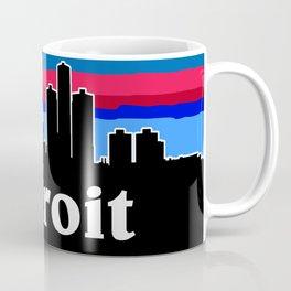 Detroit Cityscape Coffee Mug