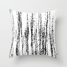 Birch Winter Throw Pillow