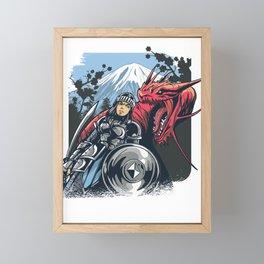Drache und Ritter Framed Mini Art Print