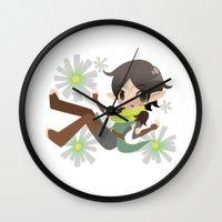 dragon age Wall Clocks featuring Dragon Age - Daisy Merrill by Choco-Minto