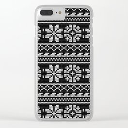 Pattern in Grandma Style #20 Clear iPhone Case