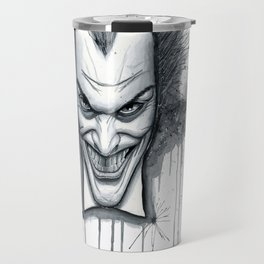 Crazy - Ode to The Joker Travel Mug