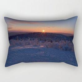 Alpenglow on Ester Dome at -31ºF Rectangular Pillow