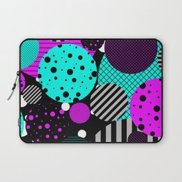 Circles, Bubbles And Stripes Laptop Sleeve
