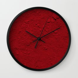 Rojo Absoluto Wall Clock