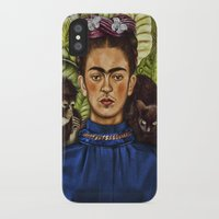 frida iPhone & iPod Cases featuring FRIDA by NOXBIL