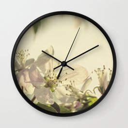 Vintage Apple Blossoms II Wall Clock
