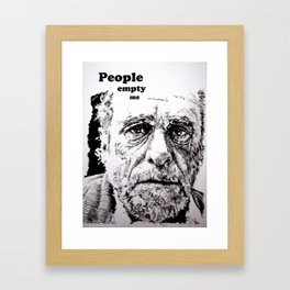 PEOPLE EMPTY ME Framed Art Print