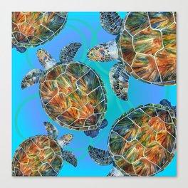 Turtle sea Canvas Print