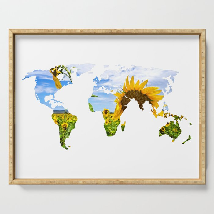 World of Sunflowers Serving Tray
