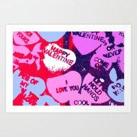 valentine rug Art Print