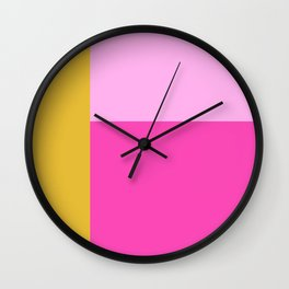Geometric Bauhaus Style Color Block in Bright Colors Wall Clock