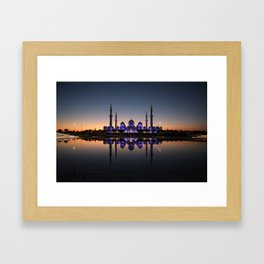 Night at the mosque Framed Art Print