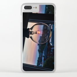 String Light Sunset Clear iPhone Case