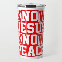 Christian Bible Verse Loved Travel Mug