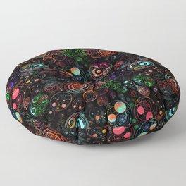 Gallifreyan Watercolor Pattern Floor Pillow
