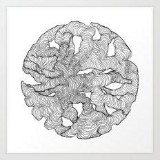 Organic Lines Art Print