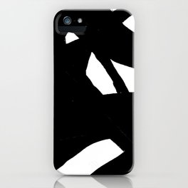 Black & White Abstract Modern Art iPhone Case