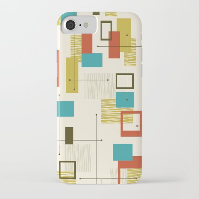 mid century modern, sputnik pattern iphone case