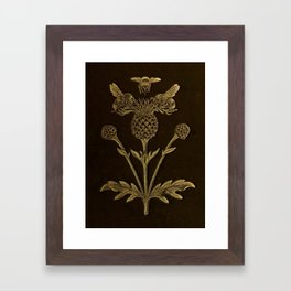 Bee And Thistle Framed Art Print