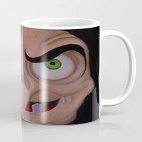 evil queen Mugs featuring Evil Queen by Jgarciat