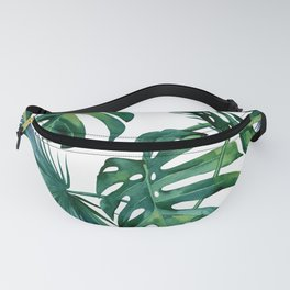 Classic Palm Leaves Tropical Jungle Green Fanny Pack