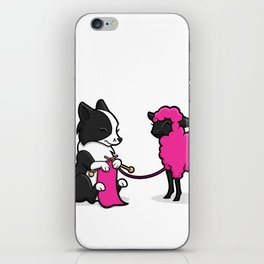 Border Collie Knitting iPhone Skin