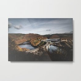 Architecture and Nature in Harmony Metal Print