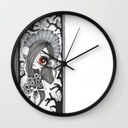 Flowers at night Wall Clock