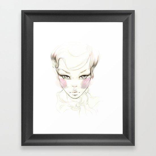 Cheeks! Framed Art Print