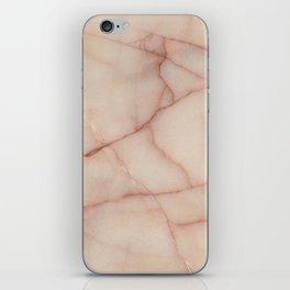WHITE ROSE MARBLE PATTERN iPhone Skin