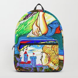 Goose Girl Fairy Tale Illustration Backpack