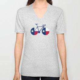 Texas Flag Cycling Unisex V-Neck