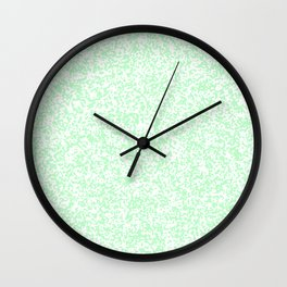 Tiny Spots - White and Mint Green Wall Clock
