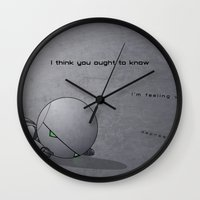 android Wall Clocks featuring Android Down by Cory Hughart