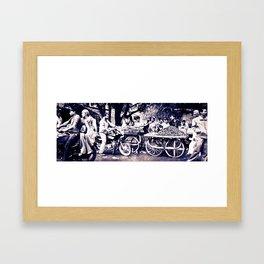 Street Scene-  Rajasthan India Framed Art Print