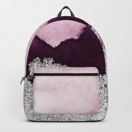 Silver foil on cherry paint Backpack