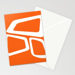 Mid Century In Burnt Orange Stationery Cards