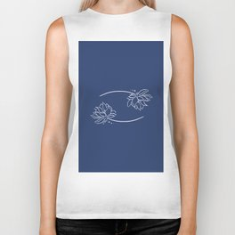 Cancer's Water Lilies Biker Tank