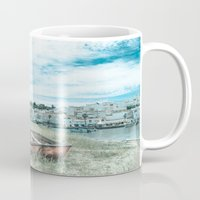 portugal Mugs featuring Portugal by Sandy Broenimann