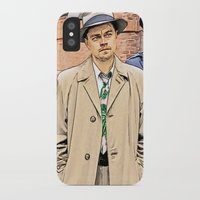 leonardo dicaprio iPhone & iPod Cases featuring Leonardo DiCaprio in Shutter Island - Colored Sketch Style by ElvisTR