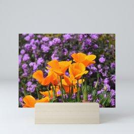 Poppies And Purple Lantana Mini Art Print