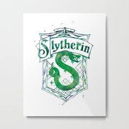 Slytherin Crest Metal Print