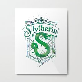 Slytherin Crest Metal Print